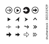 arrow sign icon set | Shutterstock .eps vector #302151929