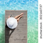 summer holiday fashion concept  ... | Shutterstock . vector #302160737
