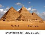 february 3  2009   pyramids giza | Shutterstock . vector #30216103