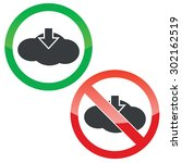 allowed and forbidden signs... | Shutterstock .eps vector #302162519
