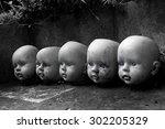 Several Children Head Doll Wit...