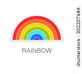 rainbow   template logo. symbol ...   Shutterstock .eps vector #302207684