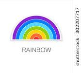 rainbow   template logo. symbol ...   Shutterstock .eps vector #302207717