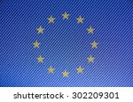 european union flag with... | Shutterstock . vector #302209301
