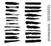 vector set of grunge brush... | Shutterstock .eps vector #302220221