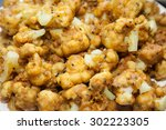 closeup of cauliflower pakoras... | Shutterstock . vector #302223305