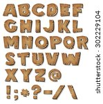 Comic Wood Alphabet ...