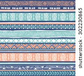 pastel colors tribal navajo... | Shutterstock .eps vector #302230865