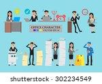 business men and women cartoon... | Shutterstock .eps vector #302234549