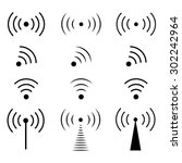 wireless icons set. | Shutterstock .eps vector #302242964
