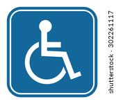 disabled handicap icon | Shutterstock .eps vector #302261117