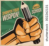 sharpen your weapon and back to ... | Shutterstock .eps vector #302262131