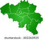 map of belgium | Shutterstock .eps vector #302263925