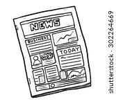 newspaper   cartoon vector and... | Shutterstock .eps vector #302264669