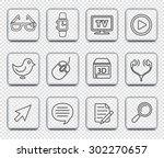digital technology and... | Shutterstock .eps vector #302270657