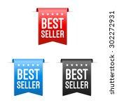 best seller labels | Shutterstock .eps vector #302272931