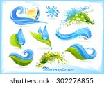 water splash icons | Shutterstock .eps vector #302276855