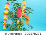 tanabata ornaments. in japan... | Shutterstock . vector #302278271