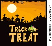 halloween theme design of... | Shutterstock .eps vector #302285897