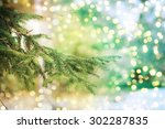 closeup of christmas tree | Shutterstock . vector #302287835