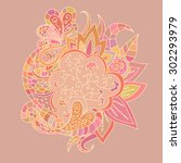 abstract lace pattern. colorful ...   Shutterstock .eps vector #302293979
