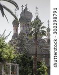 the onion dome church of san... | Shutterstock . vector #302298791