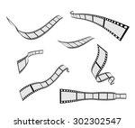 film strip roll design element...   Shutterstock .eps vector #302302547