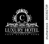 luxury logo template in vector... | Shutterstock .eps vector #302302739