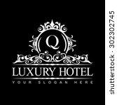 luxury logo template in vector... | Shutterstock .eps vector #302302745