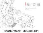 architecture background | Shutterstock .eps vector #302308184