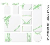 set of cards  tags and labels... | Shutterstock .eps vector #302319737