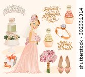 vector vintage set of... | Shutterstock .eps vector #302331314