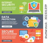 internet security  data... | Shutterstock .eps vector #302331359