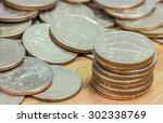 Coins Of Thailand. Wat...