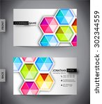 business card template  vector... | Shutterstock .eps vector #302344559