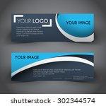 professional web banner  header ... | Shutterstock .eps vector #302344574