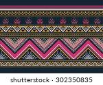 geometric ethnic pattern design ... | Shutterstock .eps vector #302350835