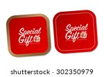 special gift stickers | Shutterstock .eps vector #302350979