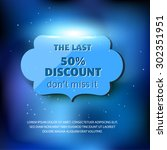 the last discount label on blue ... | Shutterstock .eps vector #302351951