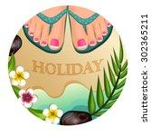 vector illustration female feet ... | Shutterstock .eps vector #302365211