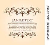 vintage frame  divider 2 | Shutterstock .eps vector #30238459