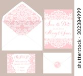 templates of envelops and cards ... | Shutterstock .eps vector #302384999