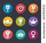 illustration award flat icons... | Shutterstock . vector #302393531