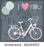 valentines day greeting card... | Shutterstock .eps vector #302394257