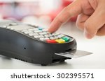 credit card payment  buy and... | Shutterstock . vector #302395571
