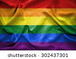 rainbow flag. illustration | Shutterstock . vector #302437301