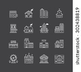 vector linear web icons set  ... | Shutterstock .eps vector #302438819