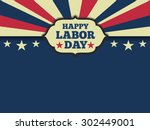 american labor day horizon... | Shutterstock .eps vector #302449001