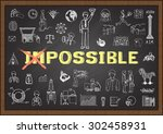 doodles about make it possible... | Shutterstock .eps vector #302458931