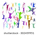 together we celebrate team... | Shutterstock .eps vector #302459951